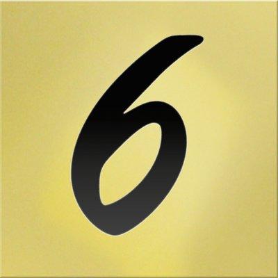 Huisnummer goud glanzend 1