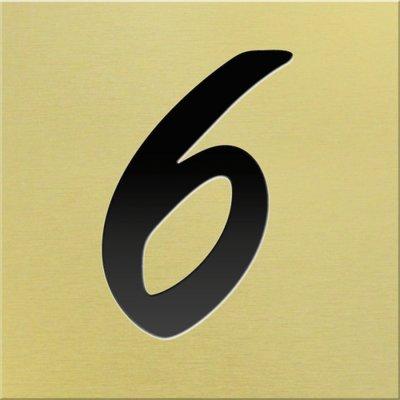 Huisnummer goud mat 1