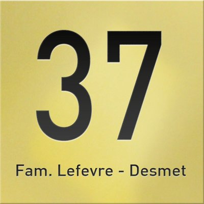 Huisnummer goud glanzend 2