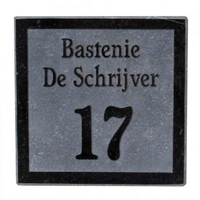 Nummergravure op arduinplaatje donker gezoet