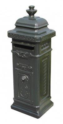 Engelse brievenbus groen