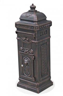 Klassieke brievenbus aluminium bronze