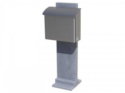 Vasp Goteborg brievenbus Belgische blauwe steen en inox