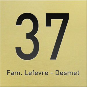 Huisnummer goud mat 2