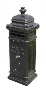 Engelse brievenbus zwart