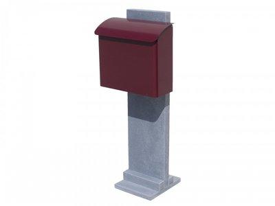 Vasp Goteborg brievenbus Belgische blauwe steen en staal rood