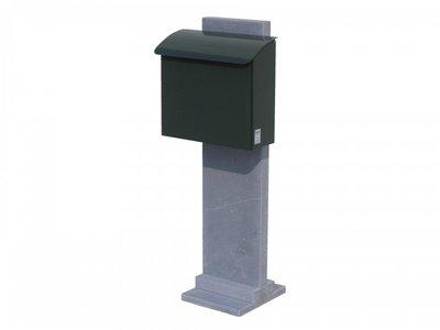Vasp Goteborg brievenbus Belgische blauwe steen en staal groen