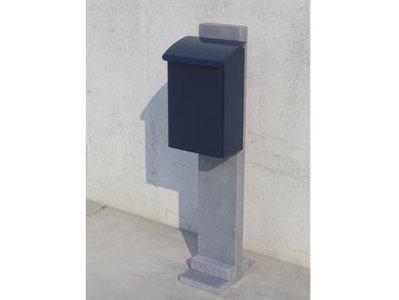 Vasp Stockholm brievenbus Belgische blauwe steen en staal blauw